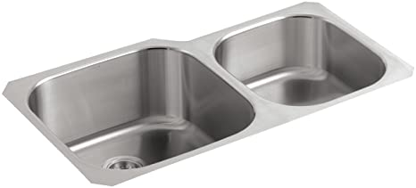 KOHLER K-3356-NA Undertone Extra-Large/Medium Undercounter Kitchen Sink,  Stainless Steel