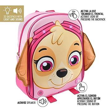 Paw 3d Luz Patrulla 32cm Sonido Mochila Patrol Girl Canina QCWxoredB