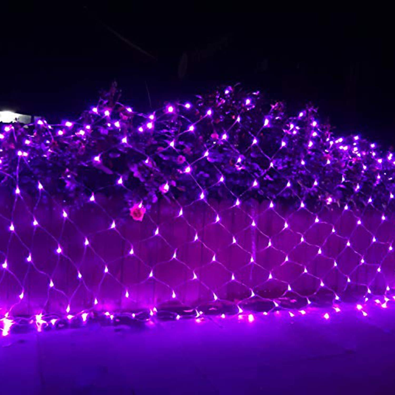 屋根の装飾スーパー明るいLEDクリスマスライトセット-10 * 8M - 2000LED - ホリデーパーティ照明セット B07KS15D6F Purple Purple