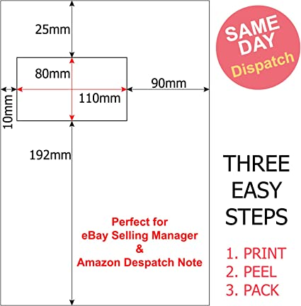 Akar A4 Integrated Labels 110 X 80 Mm Address Label Peel Off Dispatch Note Suitable For Ebay Selling Manager Amazon Despatch Invoice 4 000 Sheets Amazon Co Uk Office Products
