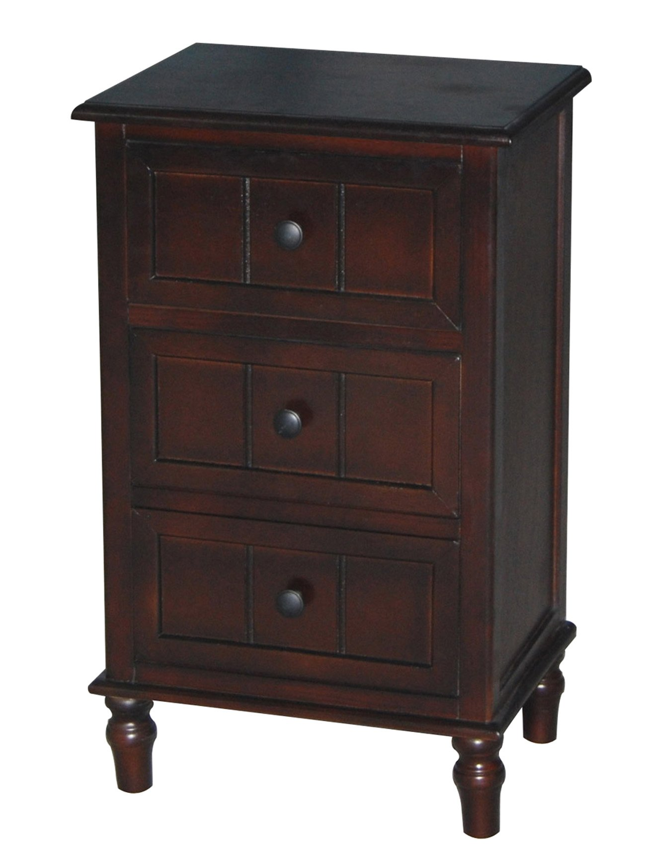 Décor Therapy FR1458 Three Drawer Accent Table, Cherry