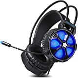 Gaming Headset, Easysmx COOL 2000 Over Ear Stereo Gaming Headphone with Mic and Volume Control, Y Splitter Cable - Xbox One