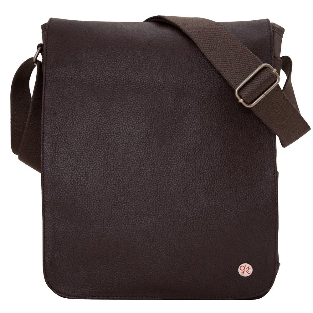 One Size Token Bags Nassau Waxed File Case Dark Brown