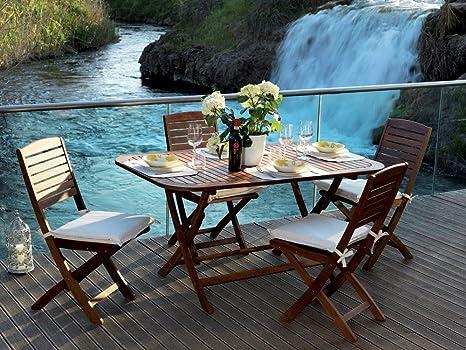 Tavolo Allungabile Giallo : Set flower tavolo allungabile h con sedie in legno