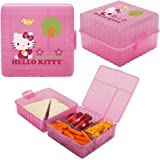 Zak! (3 Pack) Hello Kitty Kids Lunch Box Packs Food Storage Containers for Sandwich Snacks