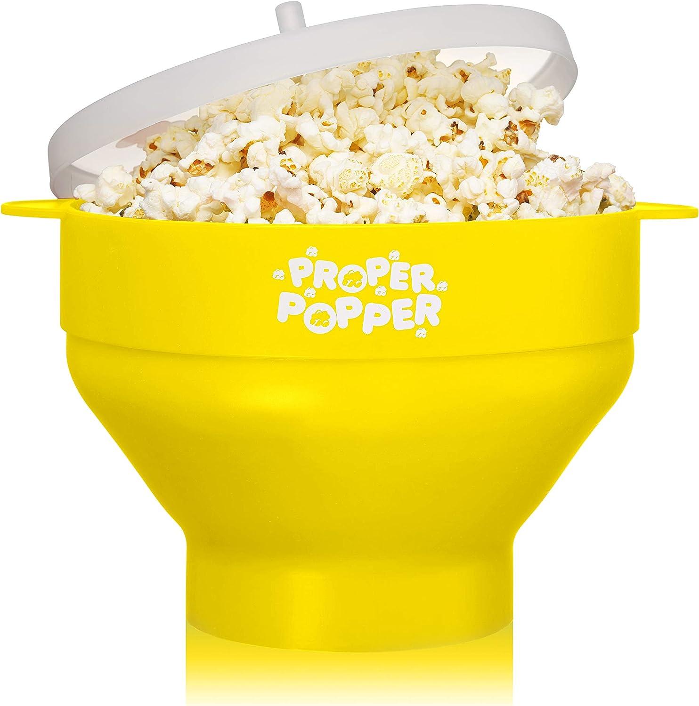 zusammenfaltbarer Popcorn Popper 1 x Popcorn Maker Silikon f/ür Mikrowelle rot BPA-frei Zubereitung ohne /Öl