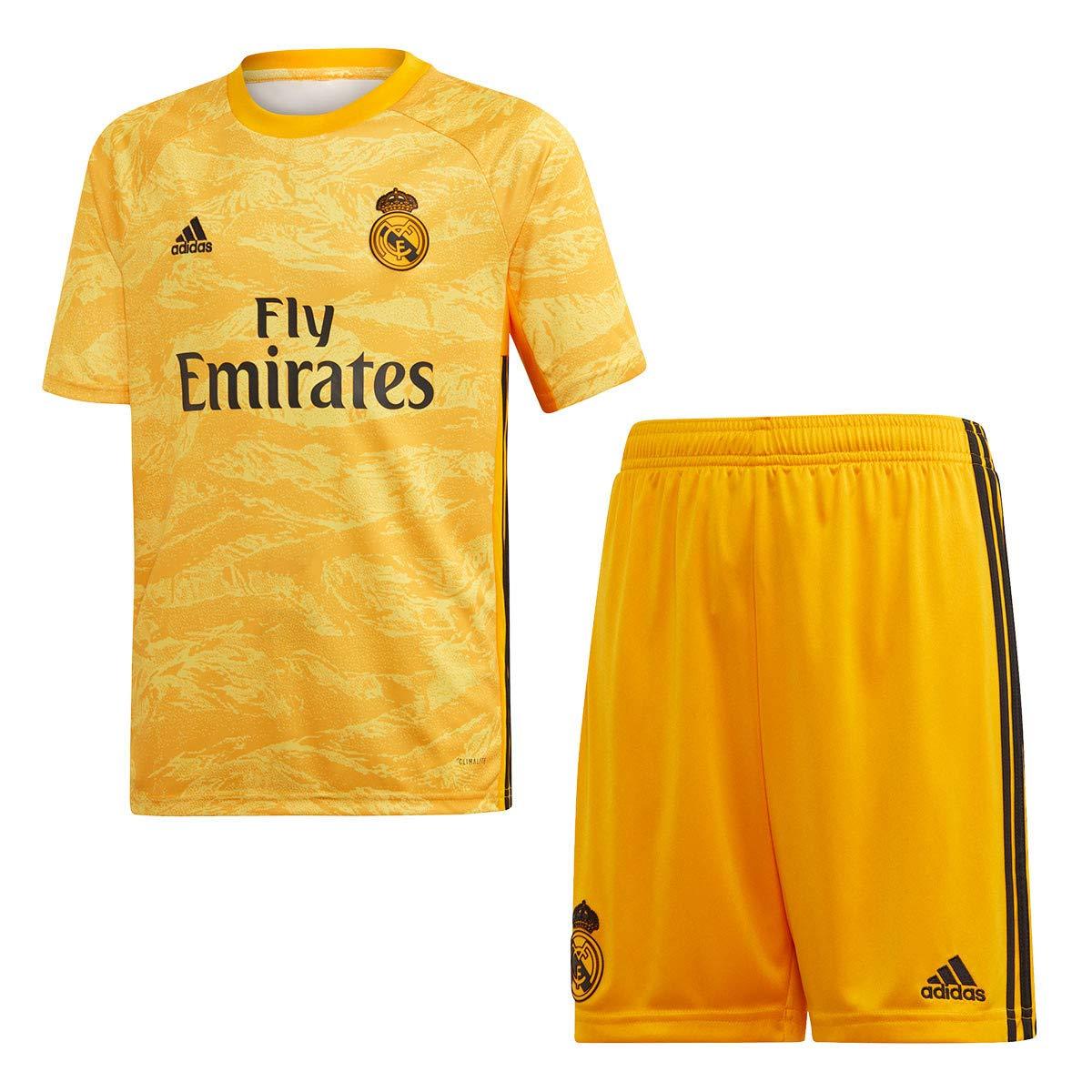 adidas Real Madrid Portero Primera Equipaci/ón 2019-2020 Ni/ño Collegiate Gold Conjunto