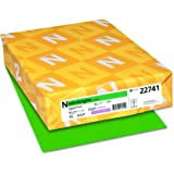 """Astrobrights Colored Cardstock, 8.5"""" x 11"""", 65 lb / 176 GSM, Gamma Green, 250 Sheets"""
