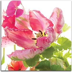 Gango Home Decor Vertical Parrot Tulip One by Judy Stalus (Printed on Paper); One 12x12in Unframed Paper Poster