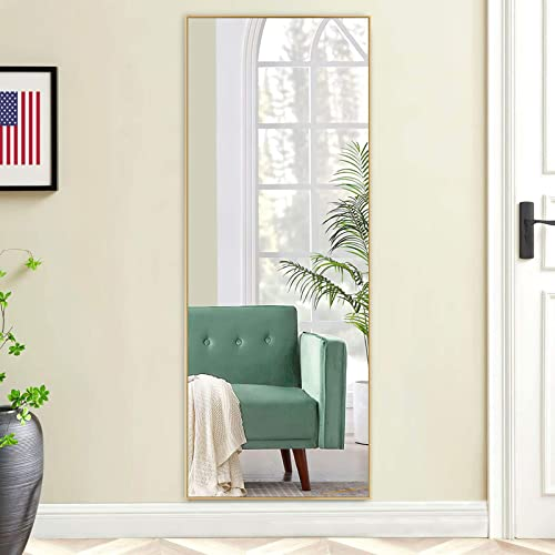 self Full Length Floor Mirror 47″x16″ Large Rectangle Wall Mirror Hanging or Leaning Against Wall