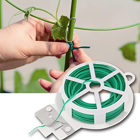 CHICTRY 2 Unidades de Corbatas para jardín, Resistentes, Verdes ...