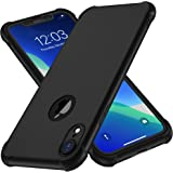 ORETech Case Compatible with iPhone XR Case,with [2X Tempered Glass Screen Protector] 360 Silicone Phone Case Thin Shockproof