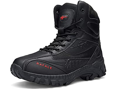 9370eb45dd5 SINOES Men Military Combat Boots Ankle Army Lace-Up Leather Shoes ...