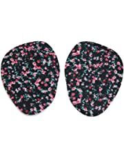 uxcell2pcs Black Silicone Gel Flower Pattern Forefoot Insole Pads High Heel Cushions