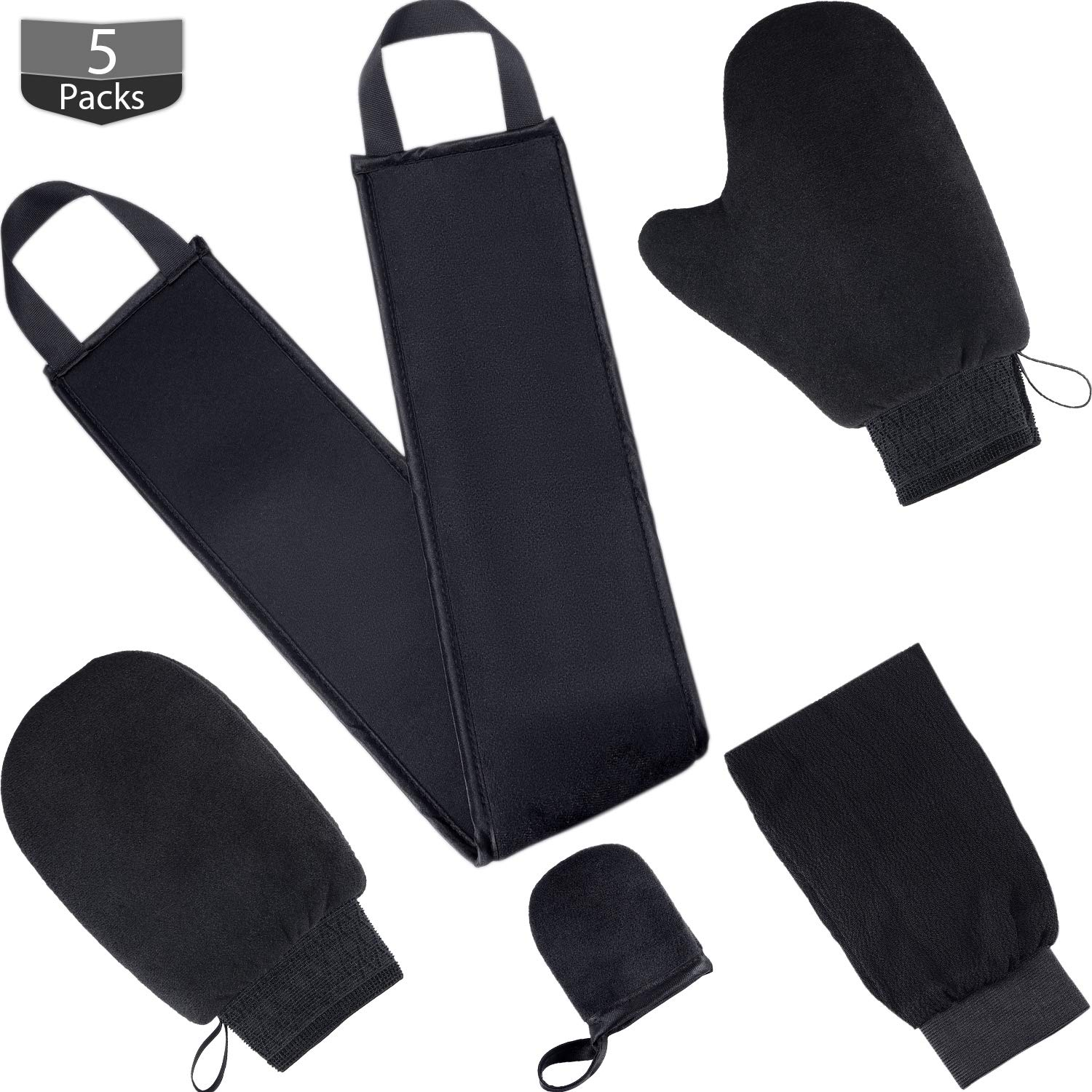 Amazon Com Tanning Mitt Applicator Tan Mitt Applicator Kit 5 In 1 With Exfoliating Glove Tanning Back Lotion Applicators For Back Face Mitt And 2 Kinds Of Gloves Tanner Mitt Tools Black Beauty