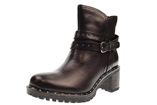 VALLEVERDE Zapatos Botines de Mujer 49566 Negro: Amazon.es: Zapatos y complementos