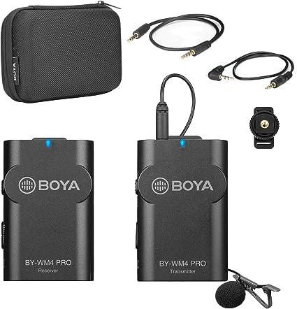 Boya By Wm4 Pro K1 2 4 G Funkmikrofonsystem Ein Sender Ein Empfänger Mit Hartschalenkoffer Kompatibel Mit Dslr Kamera Camcorder Smartphone Pc Tablet Sound Audio Aufnahme Interview Musikinstrumente