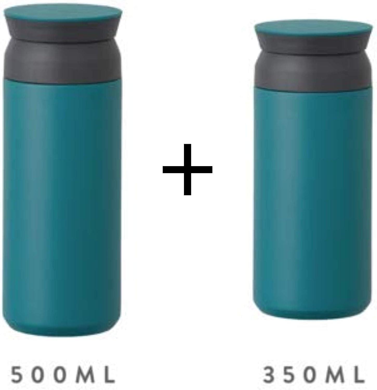 350 ML Acier Inoxydable Turquoise Kinto Gobelet de Voyage 350 ml//500 ML Bouteille deau Isotherme de Sport