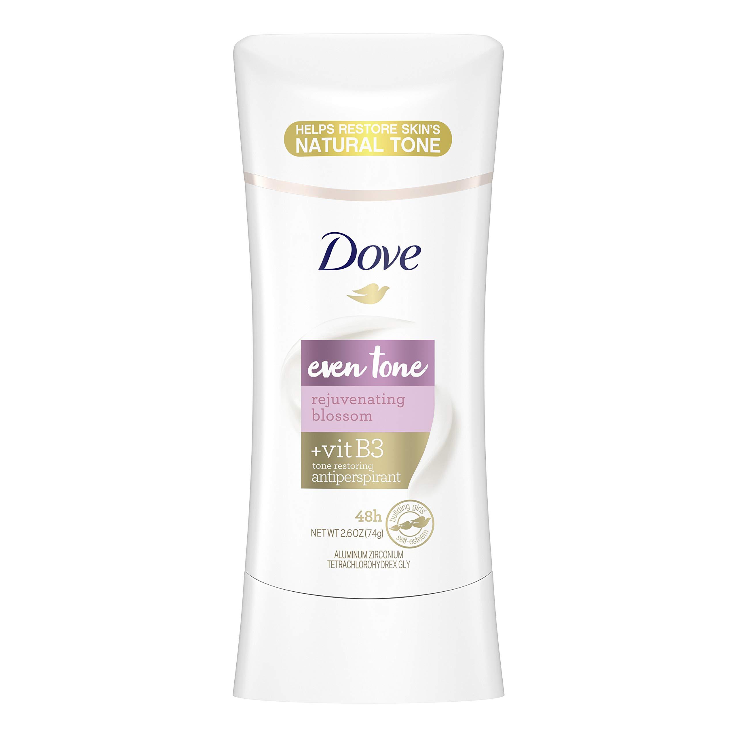 Dove Even Tone Antiperspirant For Uneven Skin Tone Rejuvenating Blossom Deodorant for Women with Dark Under Arms 2.6 oz