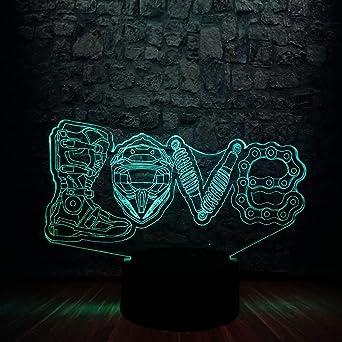 3D LED Knight Light Mesa de escritorio Lava Lampara RGB Blub 7 ...