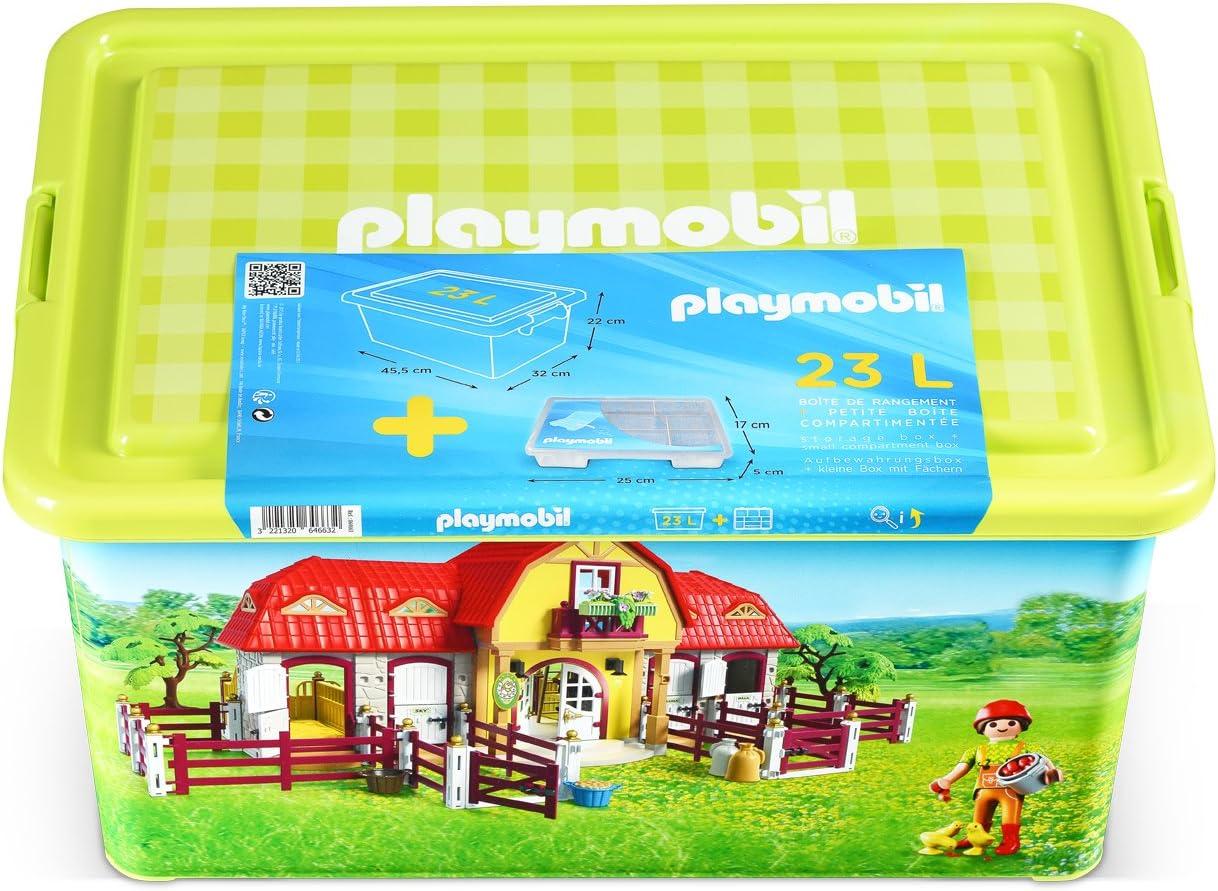 PLAYMOBIL Caja de plástico 23L Granja: Amazon.es: Hogar