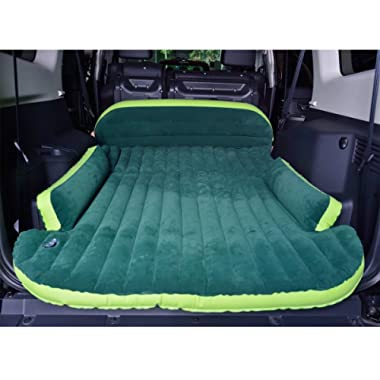 LeiMin SUV Air Mattress, Heavy Duty Thickened Car Bed Inflatable Home Air Mattress Portable Camping Outdoor Mattress, Flocking Surface, Fast Inflation