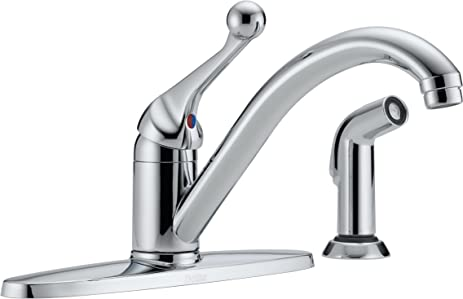 Delta BHDST Classic Single Handle Kitchen Faucet With Spray - Amazon com delta faucet kitchen sink faucets kitchen faucets
