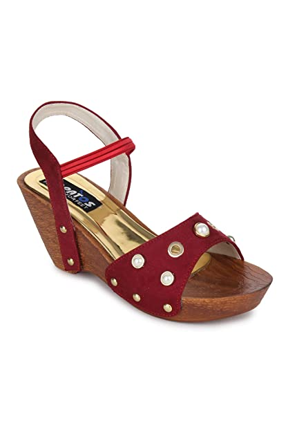 f4af7d23e Sapatos Red Wedges Heels (ST-3091-Red-41)  Buy Online at Low Prices ...