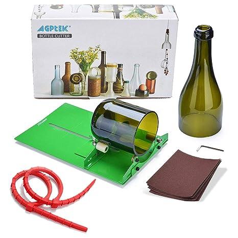 Agptek - Máquina cortadora de botellas de vidrio para bricolaje y manualidades (B015CAS2N4),. Pasa ...
