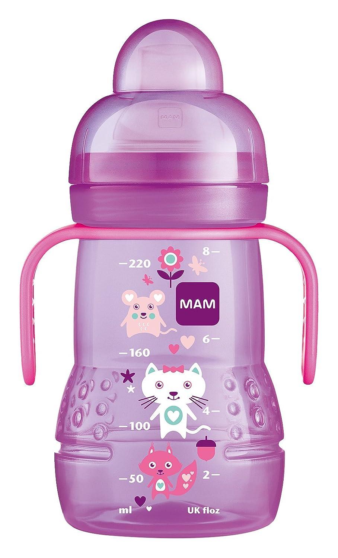 MAM Trainer Bottle, Non Spill Spout - 220 ml, Blue FBT101B