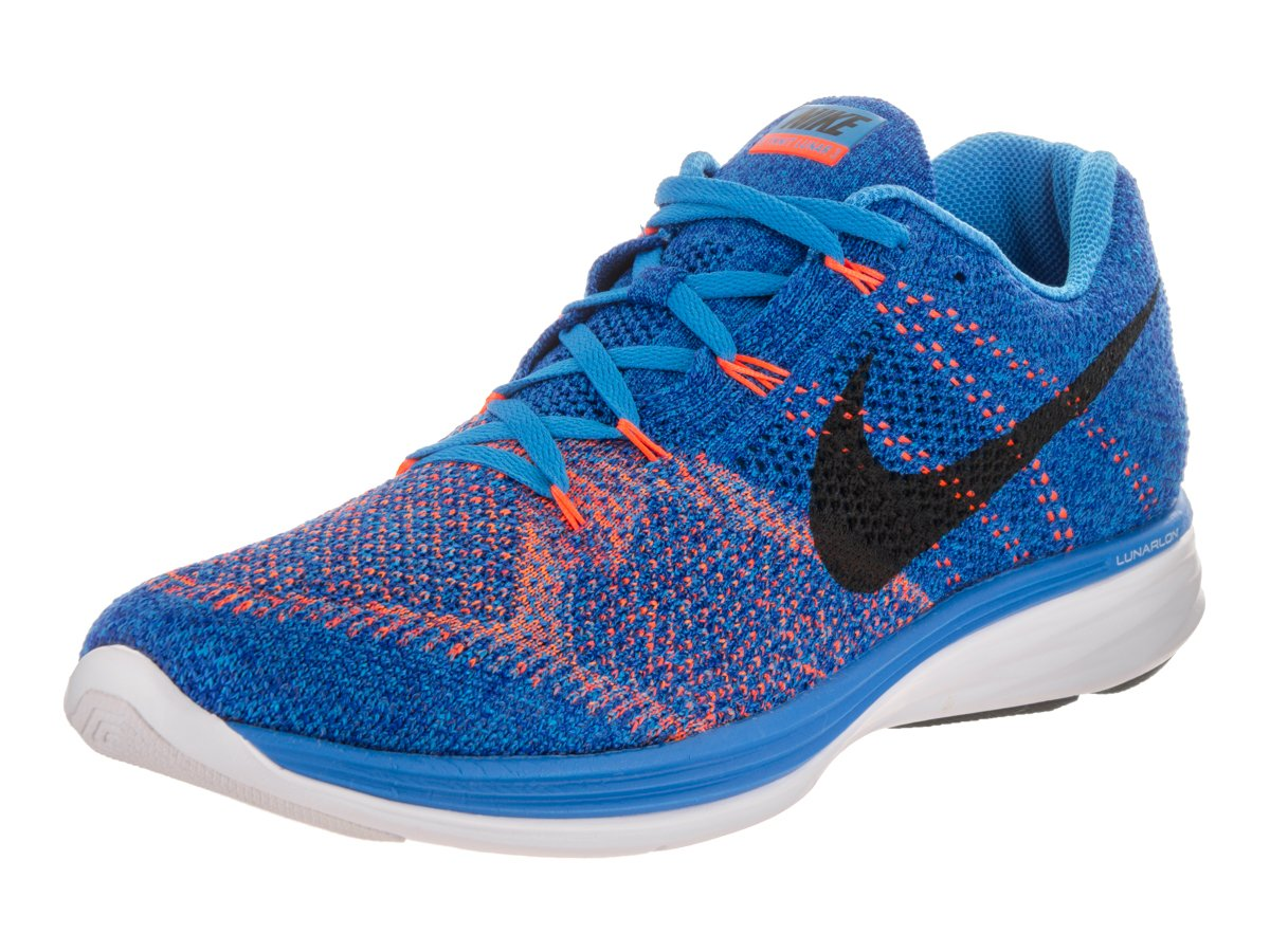 buy online 7aef3 5624b Galleon - Nike Mens Flyknit Lunar3 Photo Blue Black Concord White Running  Shoe 11.5 Men US
