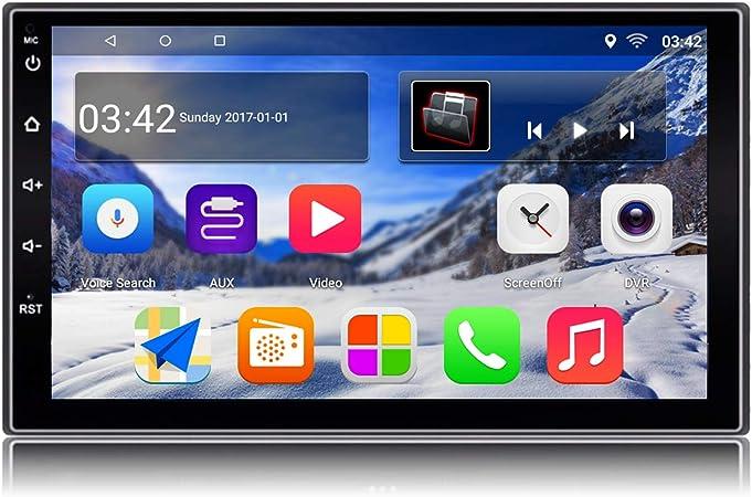 KKXXX S2 Android 9.0 Autoradio Am FM RDS 2 DIN Navegacion GPS 1 GB RAM 16 GB ROM Pantalla Tactil Capacitiva 7 Pulgadas 1080P Control del Volante BT ...