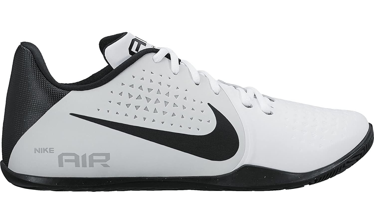 best cheap be6b2 c7f31 Amazon.com   Nike Mens Air Behold Low Basketball Shoe White Black-Pure  Platinum-Wolf Grey 11   Shoes