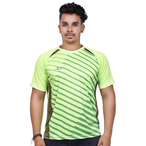 92396b4ead97 Mayor RNT-003 1 Nylon Men s Round Neck Dry Fit T Shirt (Large)  Amazon.in   Sports
