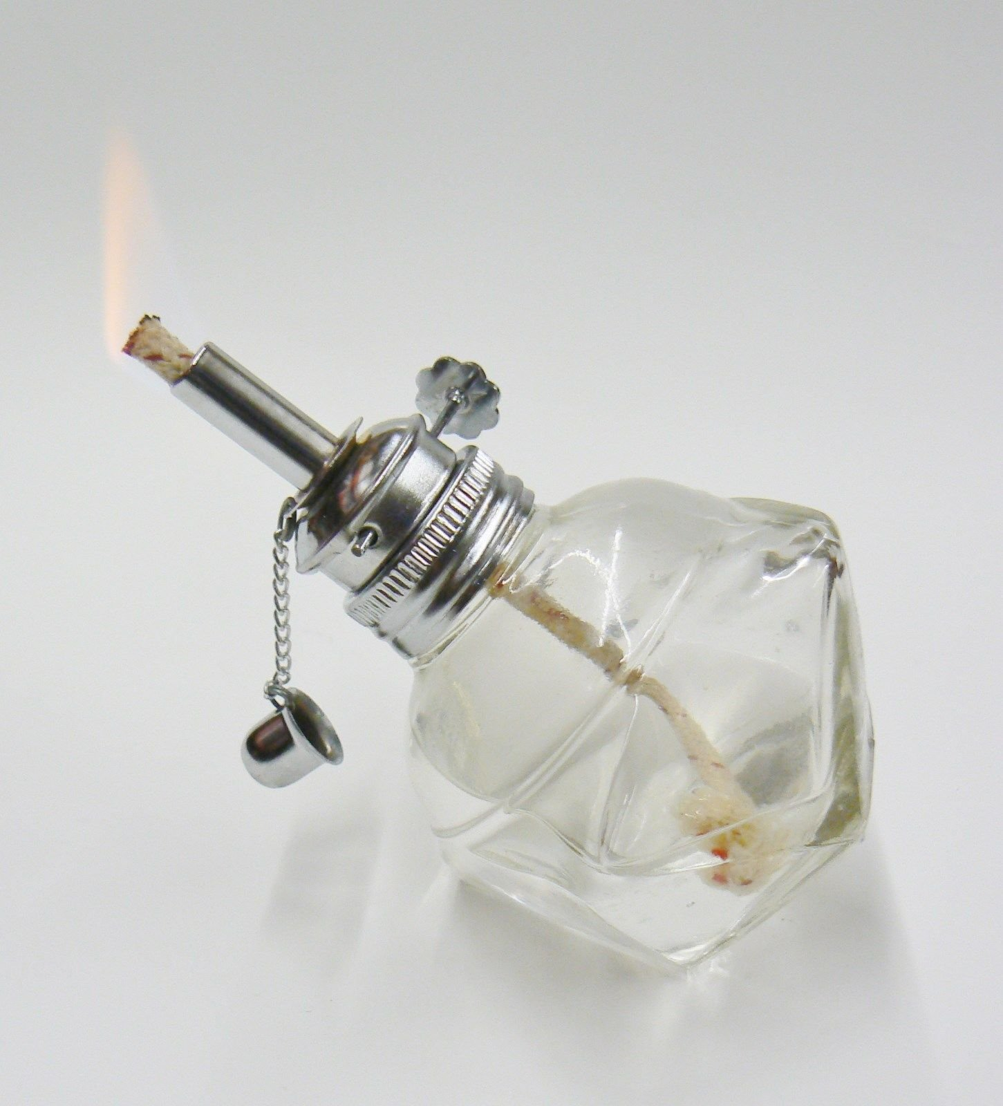 Alcohol Lamp Glass Spirit Lamp Burner Faceted Sides & Adjustable Wick Wax Work by EUROTOOL (Image #7)