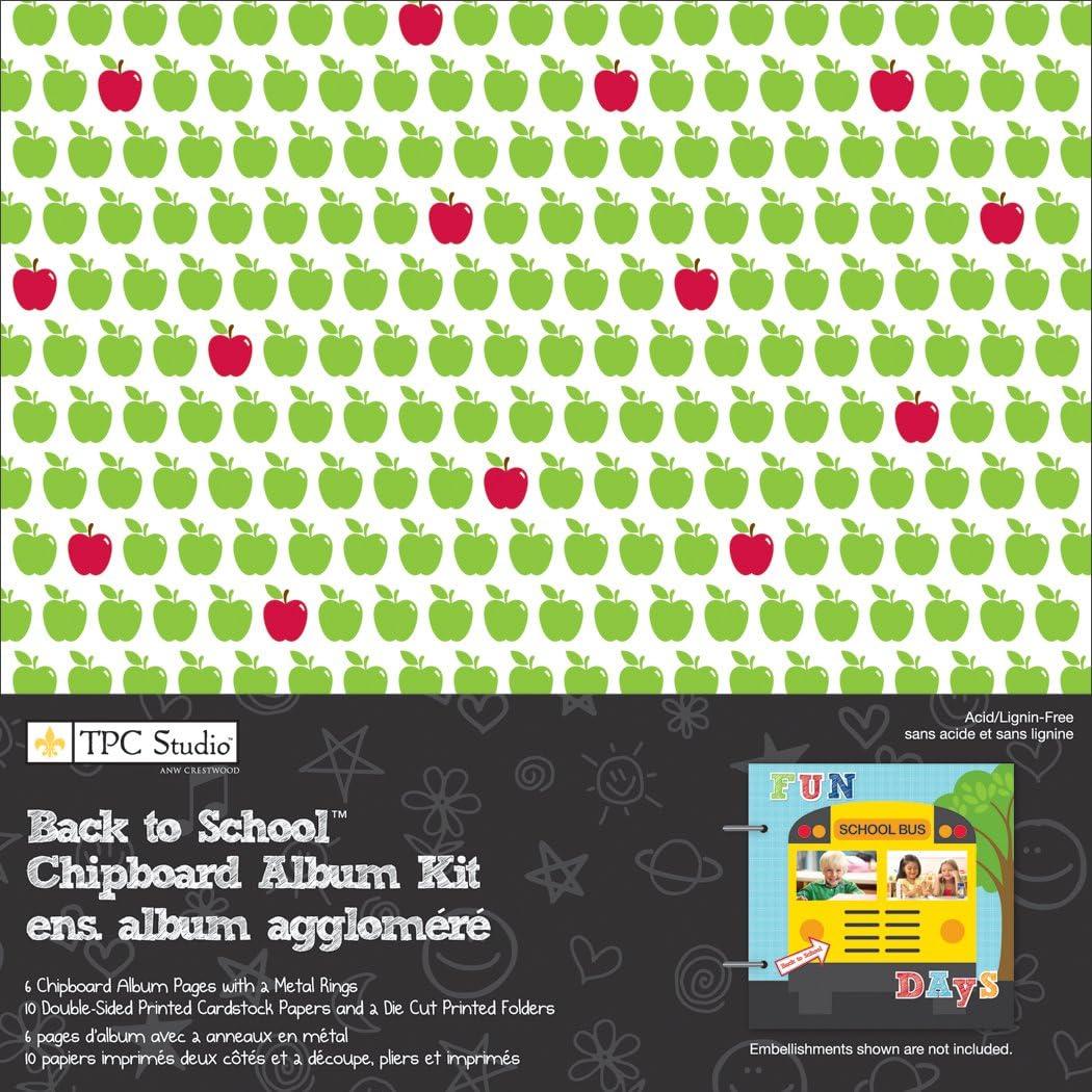 Back To School 8x8 Chipboard Album Kit