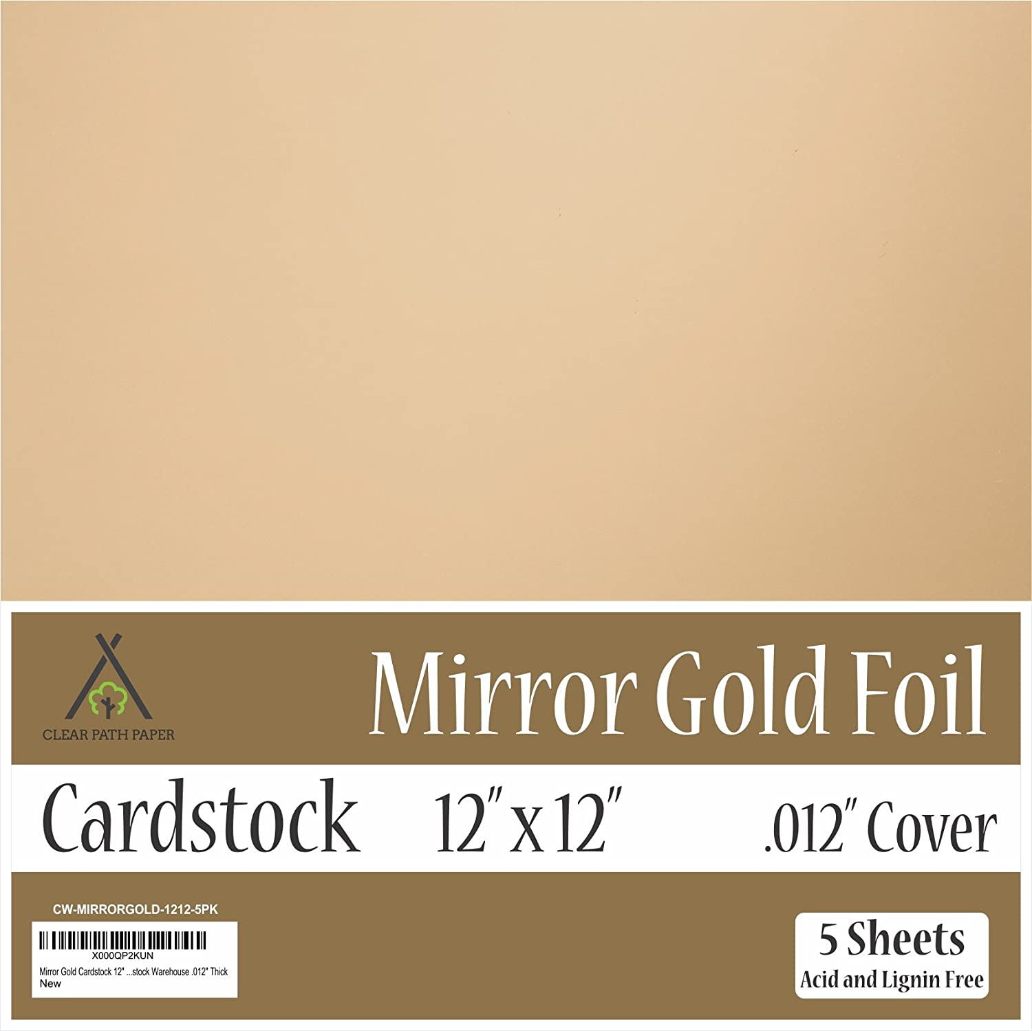 Gold color cardstock paper 5x7 - Amazon Com Mirror Metallic Gold Cardstock 12 X 12 Inch 012 Thick 5 Sheets