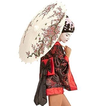 Asiatische Sonnenschirme , Net Toys Asia Sonnenschirm Chinesischer Papierschirm 84 Cm Geisha