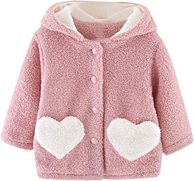 Baby Warm Cotton Coats with Hooded Outerwear for Boys Girls Unisex0-4years Toddler Winter Coats