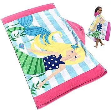 Uniuooi Toalla de playa para niños con capucha, extra grande, suave, 100%