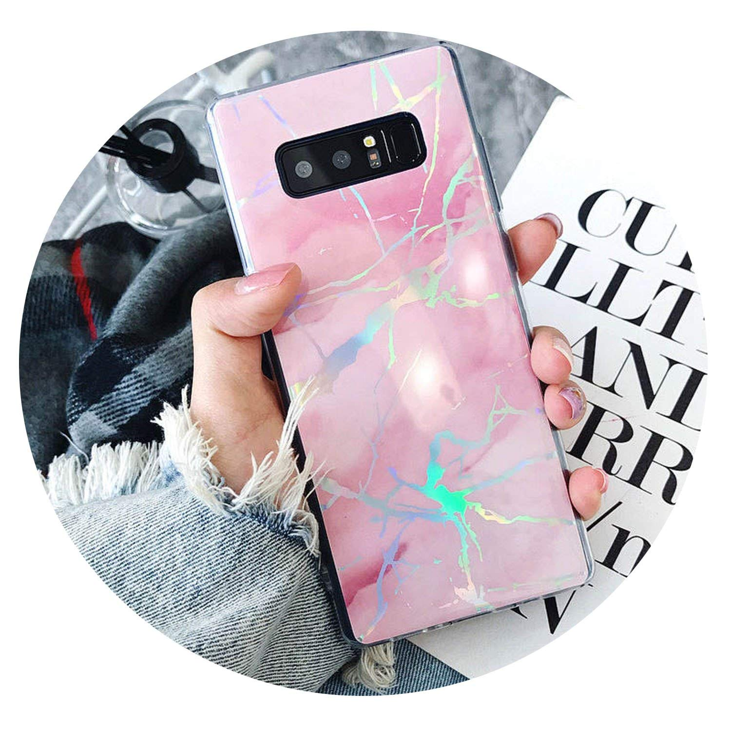 Amazon.com: Marble Case for Samsung Galaxy S9 S8 S10 Plus Note 9 8 Laser Case Ultra Thin Soft Silicone Case Cover for S7 Edge Funda,Black,for Samsung Note ...