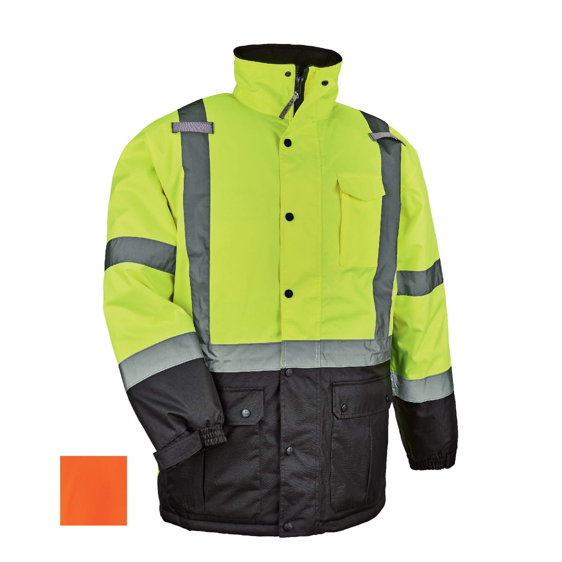 High Visibility Reflective Winter Safety Jacket, Insulated Parka, ANSI Compliant, Ergodyne GloWear 8384 by Ergodyne