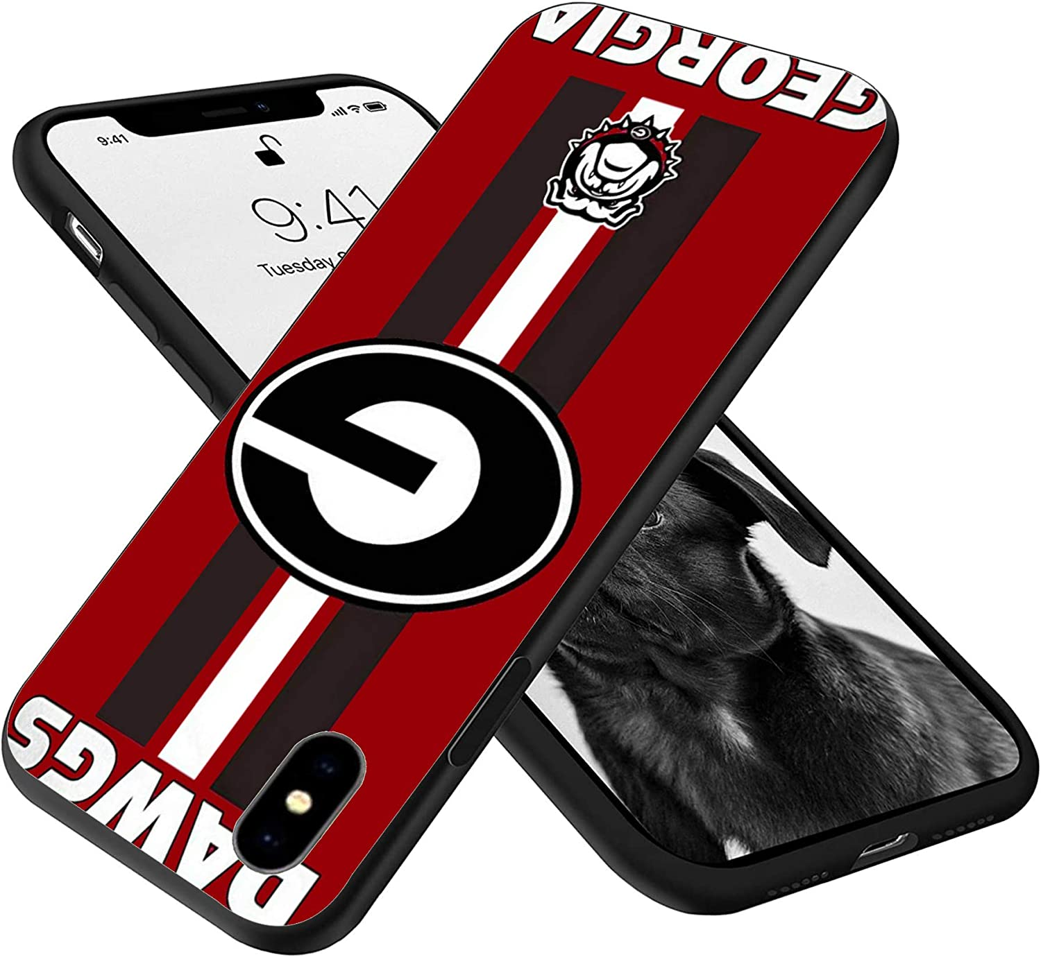 Silicone Case for iPhone XR, Silky-Soft Touch Full-Body Protective Case Personalized Design (Bulldogs-GG-2)