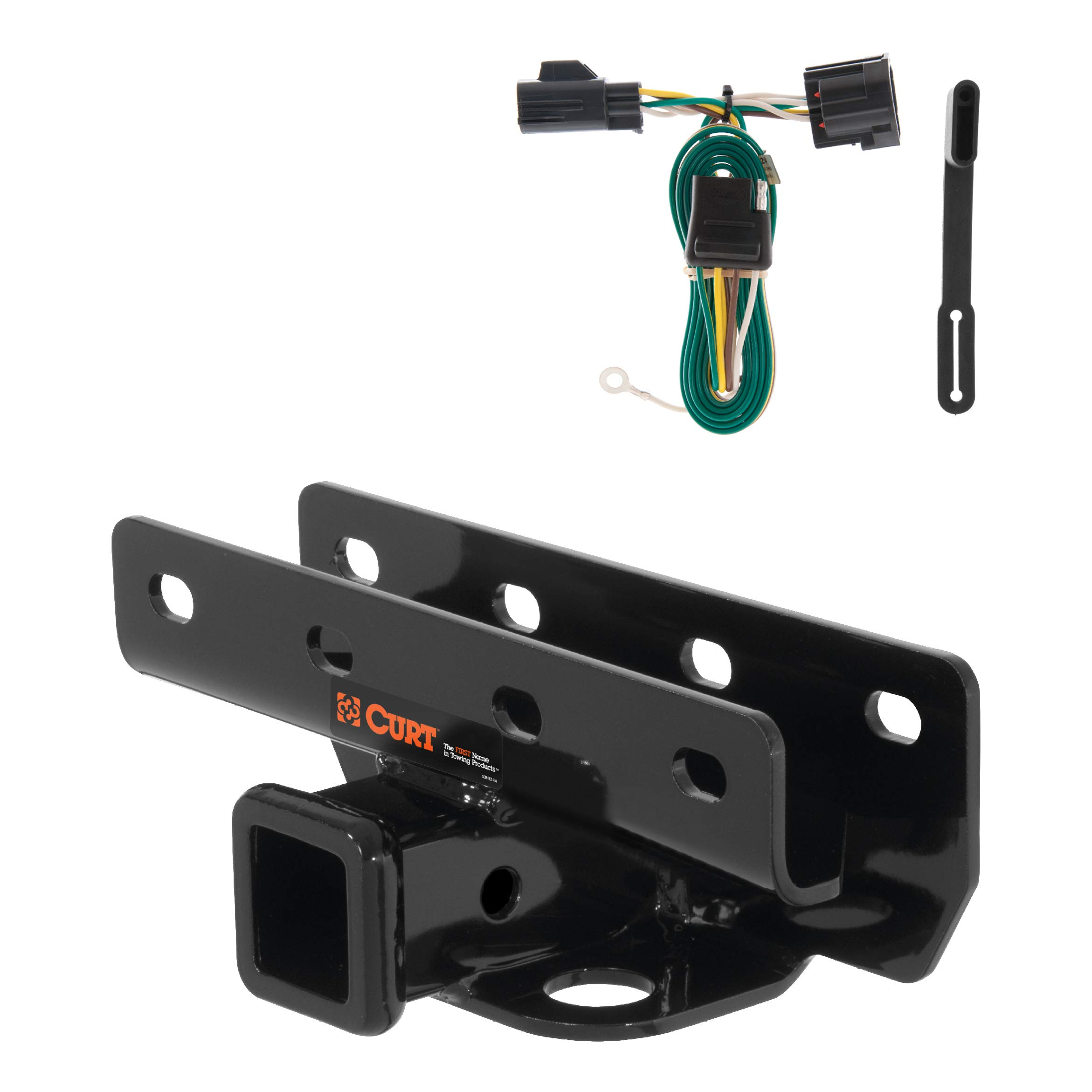 CURT 99317 Class 3 Trailer Hitch, 2-Inch Receiver, 4-Pin Wiring Harness Select Jeep Wrangler by CURT
