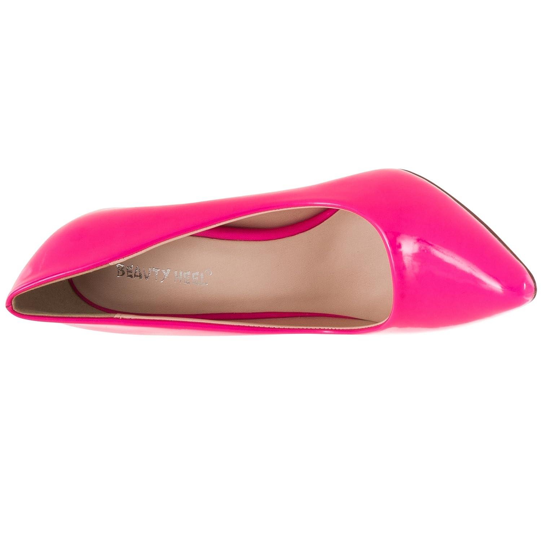Pinky Womens Athena Pointed Toe Patent Stilettos