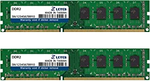 LEVEN DDR2 8GB (4GB×2) 800MHz PC6400 Unbuffered Non-ECC UDIMM 240 Pin PC Computer Desktop Memory Module Ram Upgrade- (JR2U800172208-4Mx2)