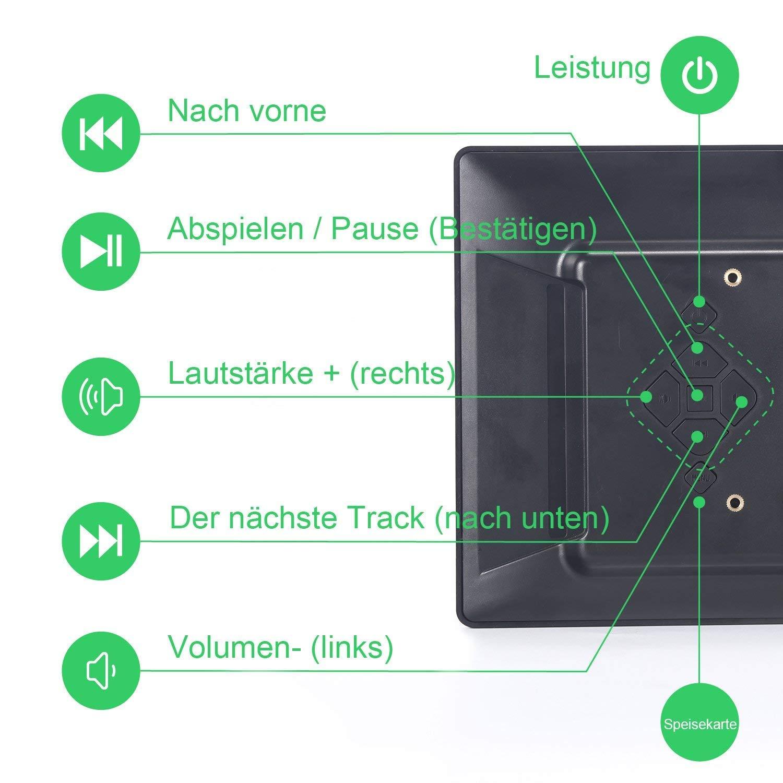 L&Z Digitaler Bilderrahmen 7 Zoll Widescreen 1024X600 Hohe AuflöSung ...