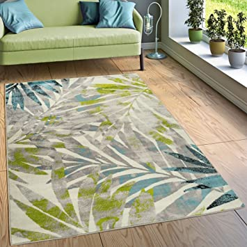Paco Home Designer Teppich Wohnzimmer Ausgefallen Farbkombination Jungle  Design Mehrfarbig, Grösse:60x100 Cm
