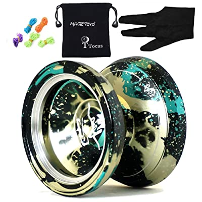 MAGICYOYO &Yostyle M002 April Unresponsive Yo-Yo (Black Green and Yellow) by MAGICYOYO: Toys & Games