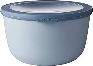 Rosti Mepal Cirqula Multi Food Storage and Serving Bowl with Lid, 2L/2.1Q, Nordic-Blue